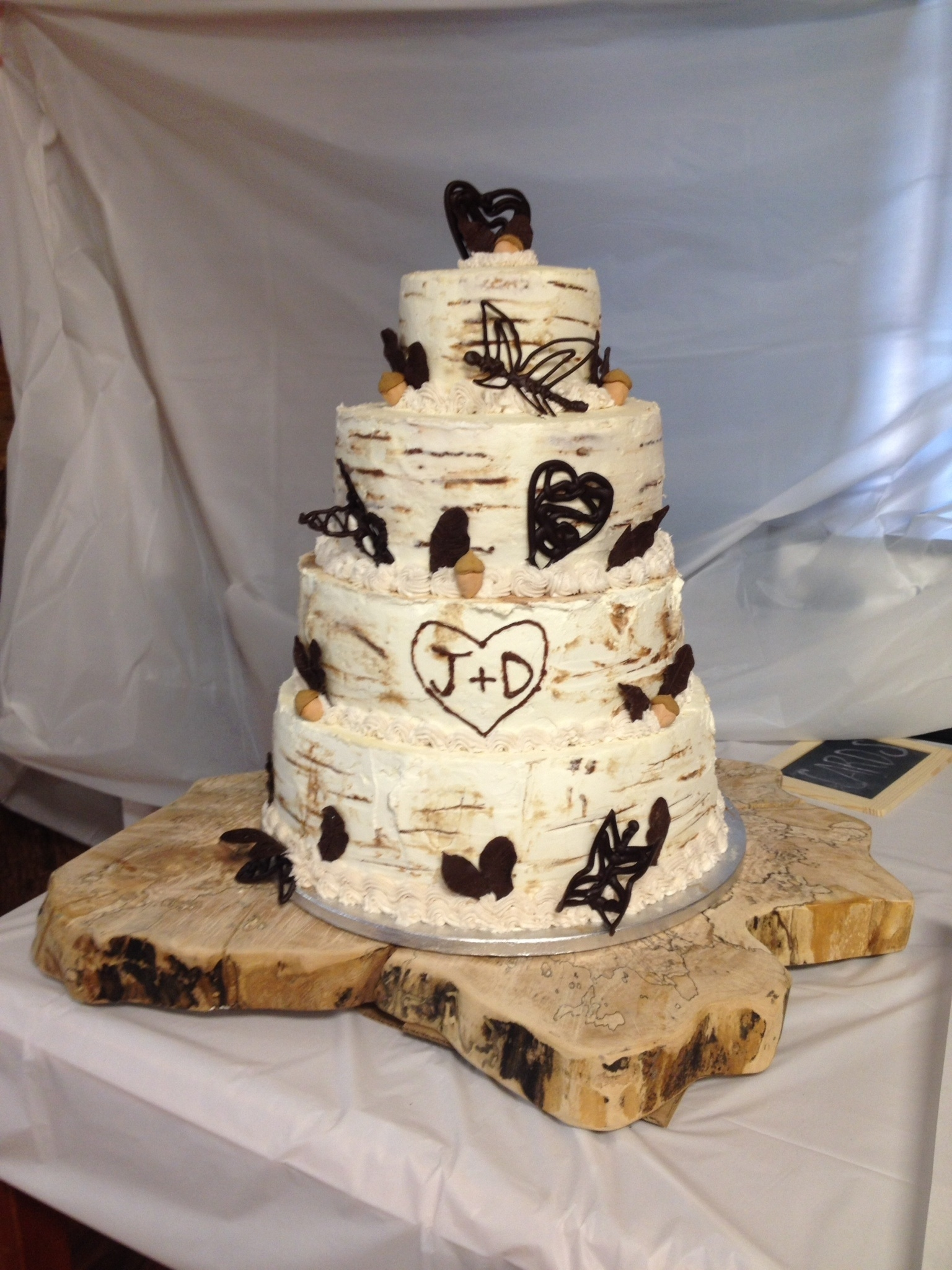 birch wedding cake smbc icing birch tree cake. Black Bedroom Furniture Sets. Home Design Ideas