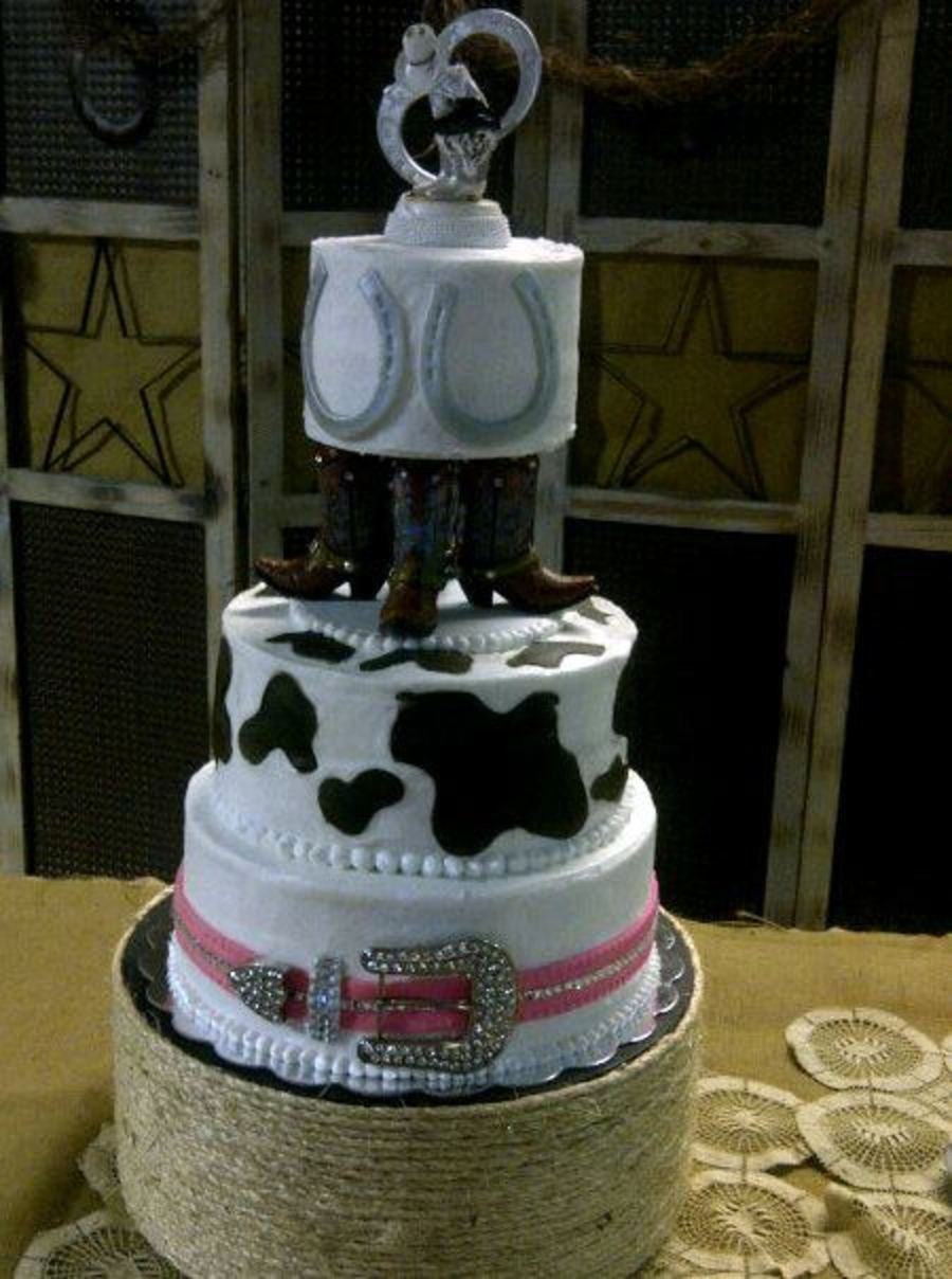 Western Wedding Cake By Robyn Montgomery on Cake Central