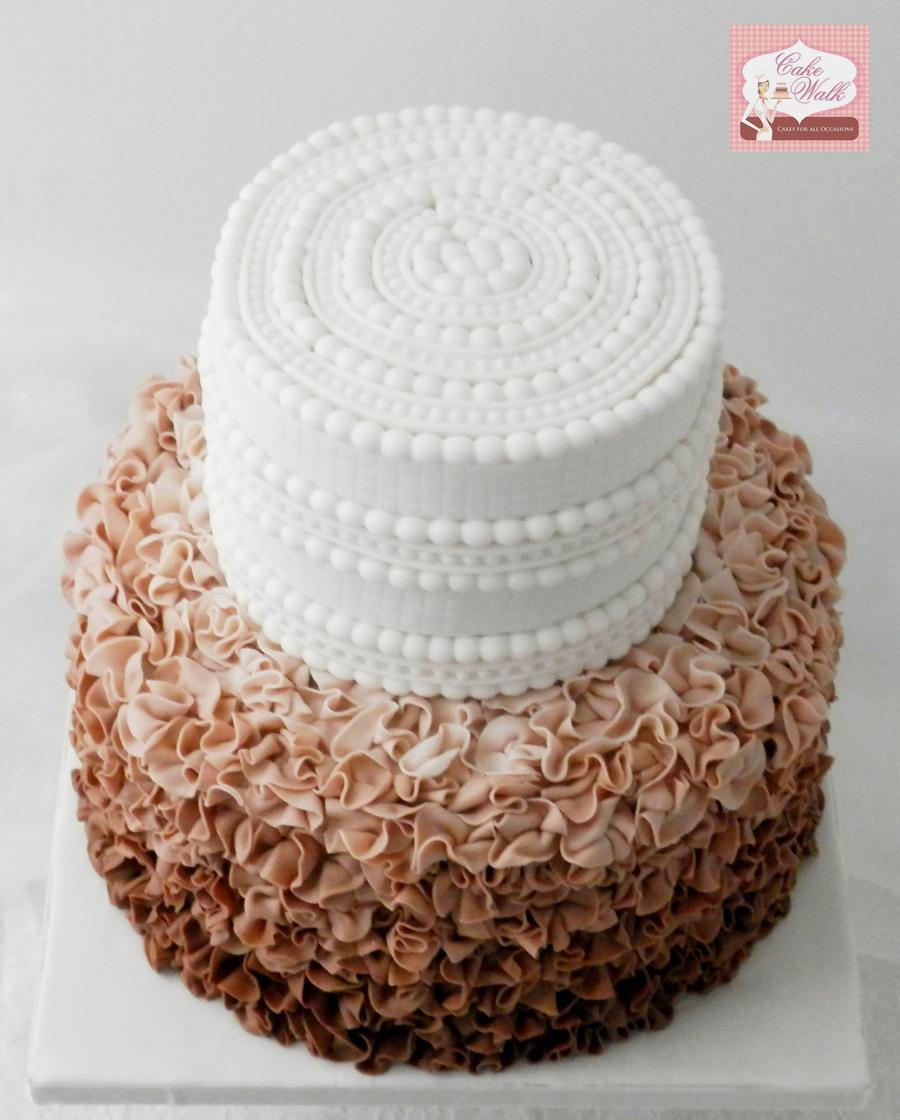 Cakecentral Com: Ruffles Wedding Cake