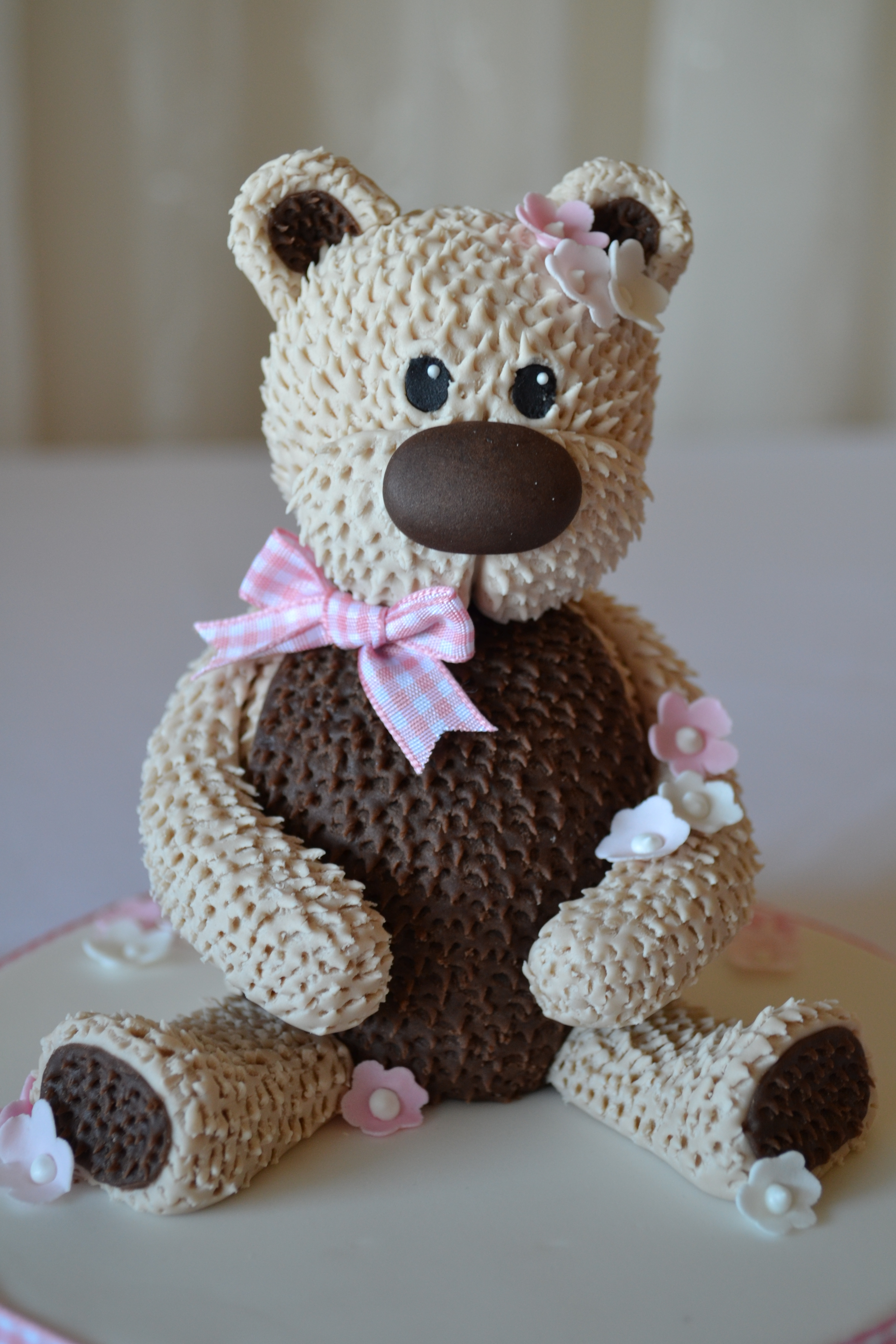 Cute Teddy Bear Cake Topper! - CakeCentral.com