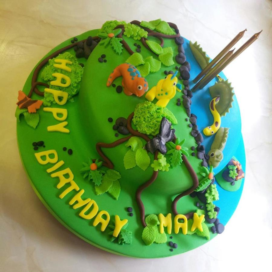 Prehistoric Birthday Cake!  on Cake Central