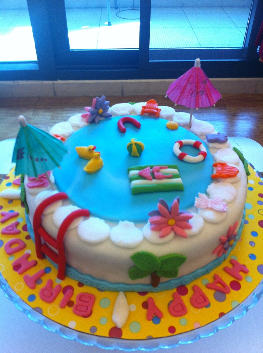 Swimming Pool Cake - CakeCentral.com