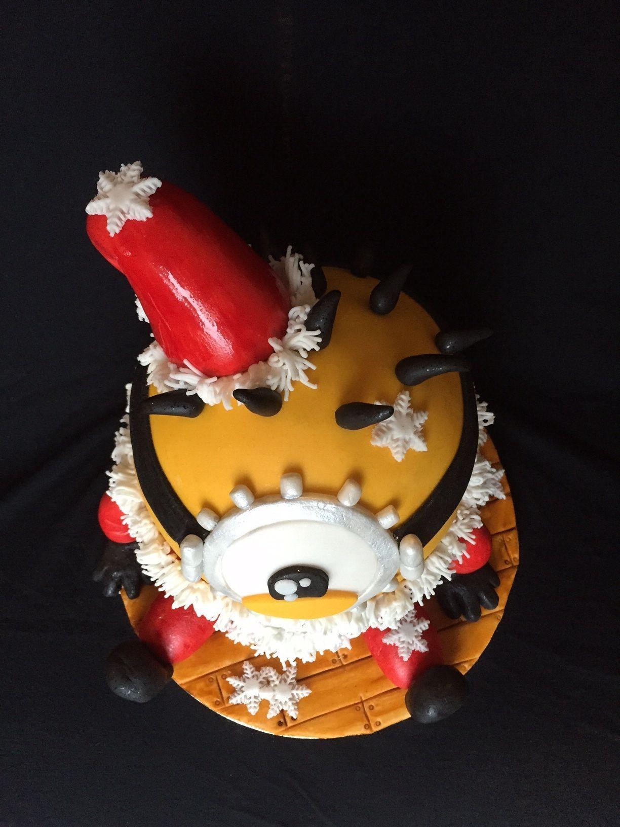 A Recipe For A Minion Santa Cake