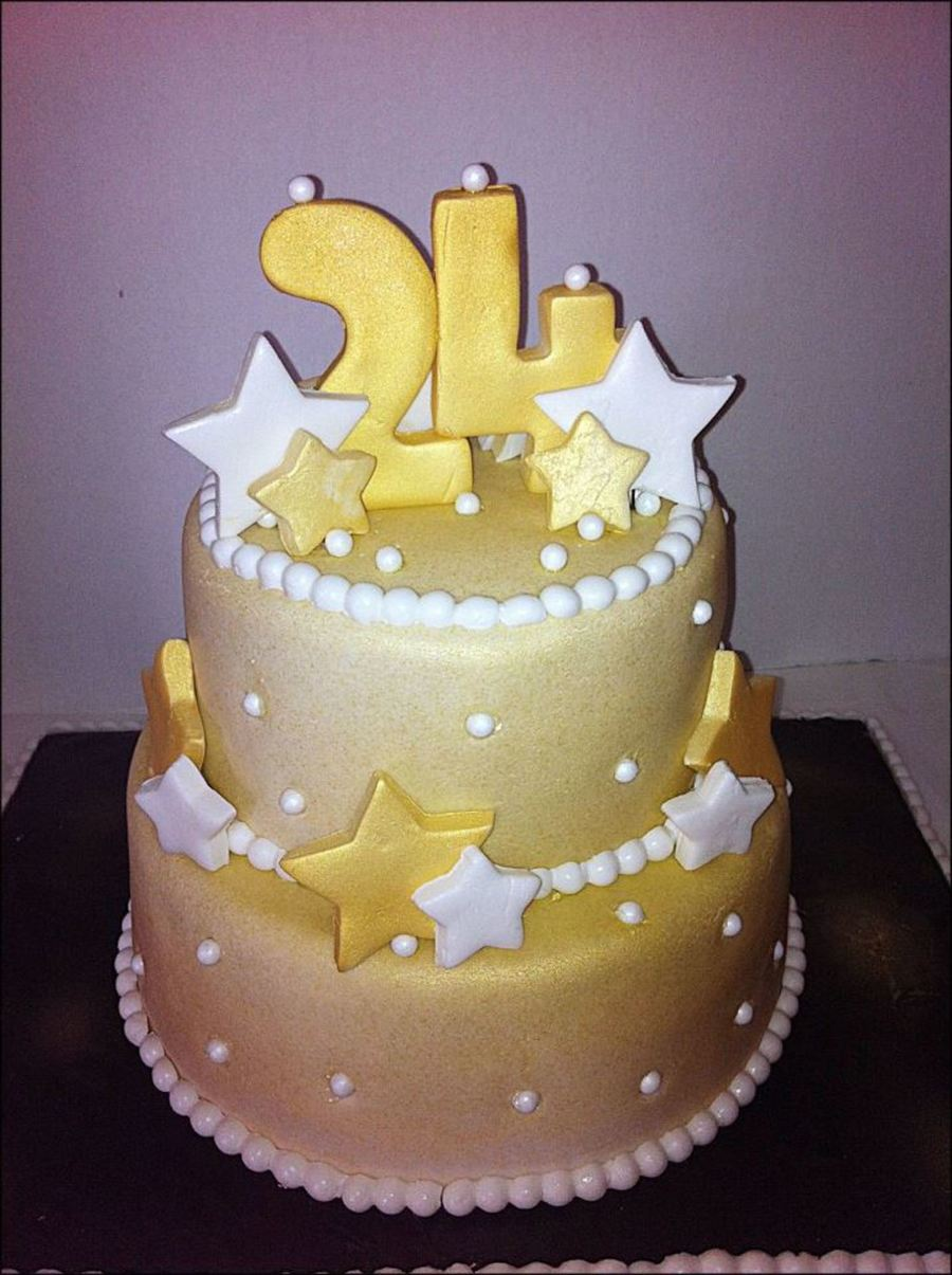 Marvelous 24 Carat Birthday Cake Cakecentral Com Personalised Birthday Cards Veneteletsinfo