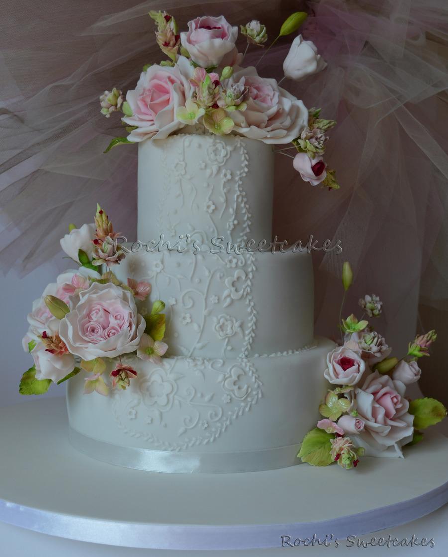 Cakecentral Com: Lacework Wedding Cake