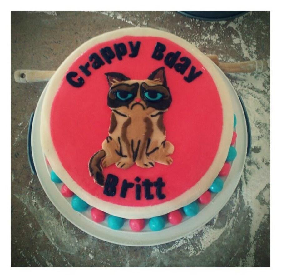 Grumpy Cat Birthday Cake CakeCentralcom