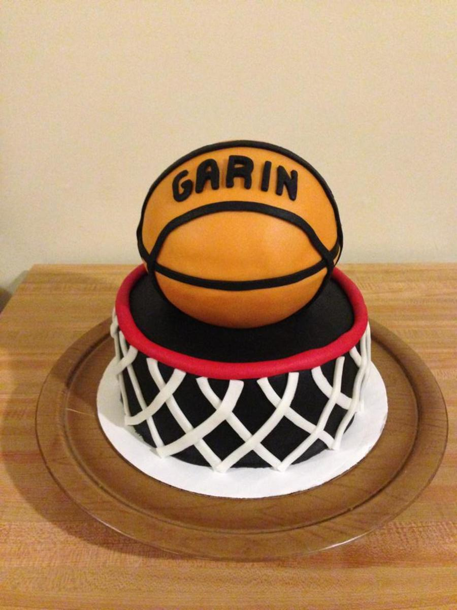 Basketball And Hoop Birthday Cake Cakecentral Com