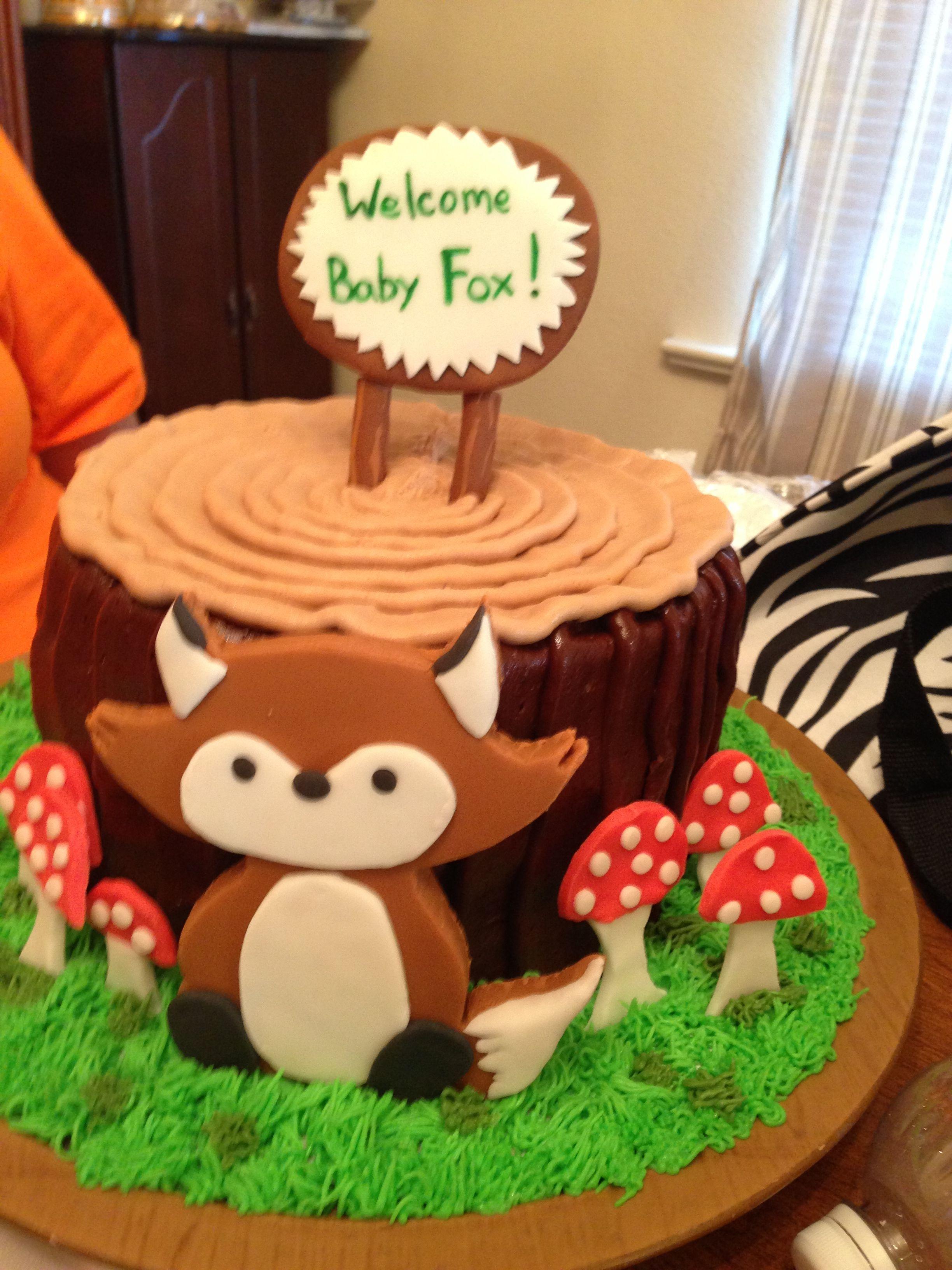Fox Baby Shower Cake Cakecentral Com