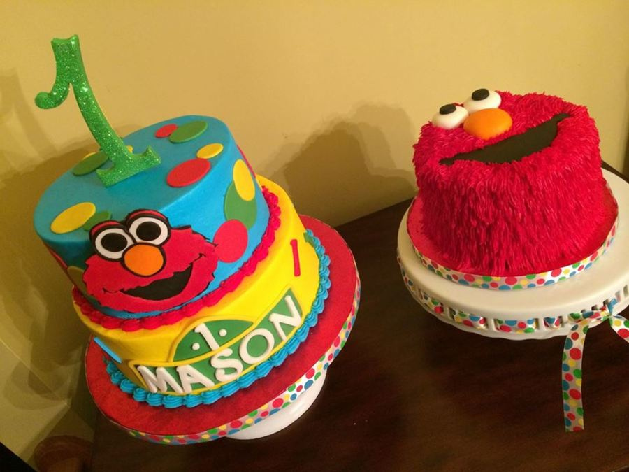 Elmo Theme 1st Birthday Cake All Cakes Are Made With