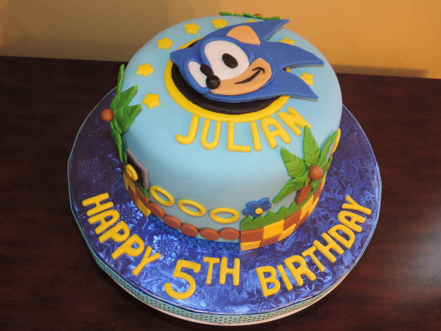 Sonic The Hedgehog Birthday Cake Cakecentral Com
