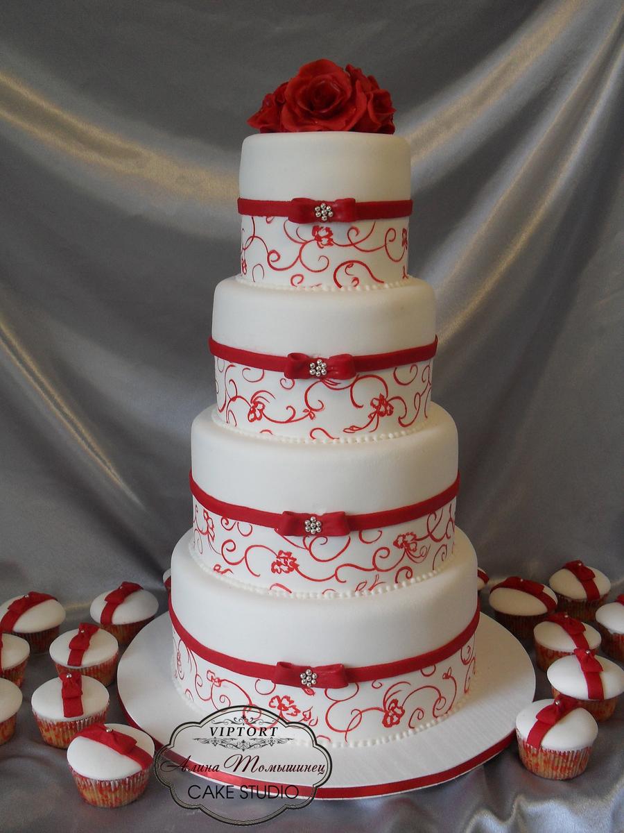 Red Wedding Cake Cakecentral Com