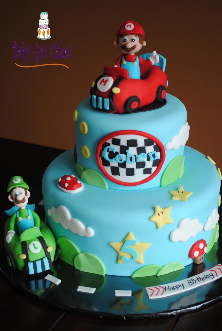 Mario Amp Luigi Two Tier Cakecentral Com