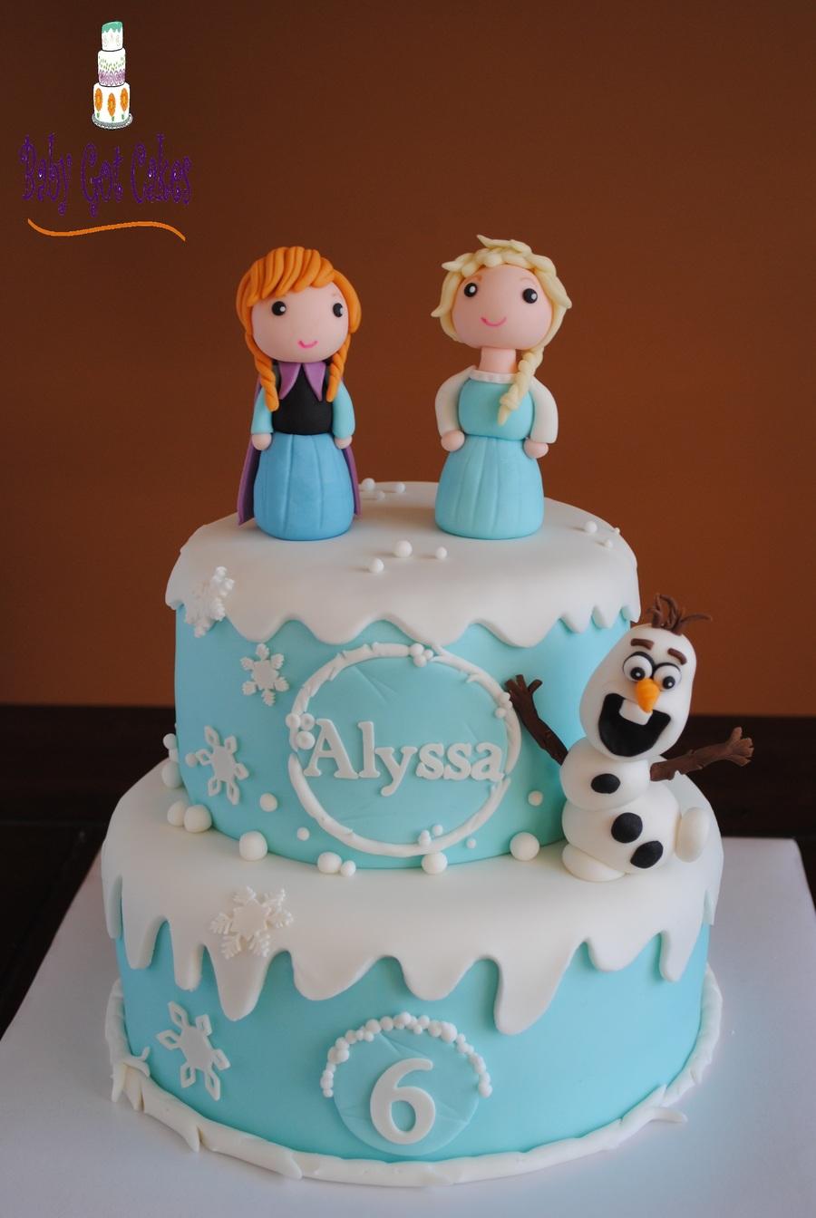 Frozen Birthday Cake Figures