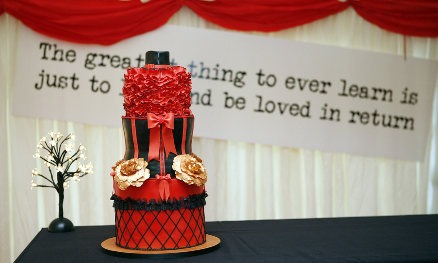 Moulin Rouge Theme Cake on Cake Central