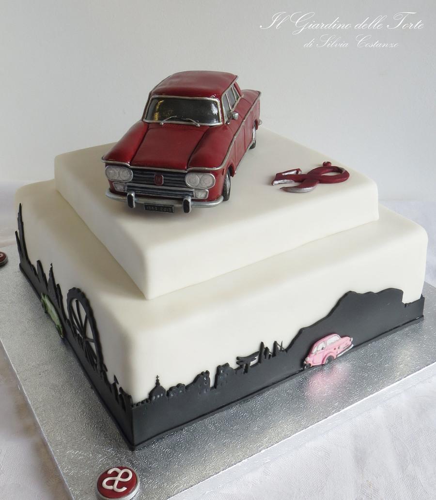 1963\' Fiat 1300 Cake - CakeCentral.com