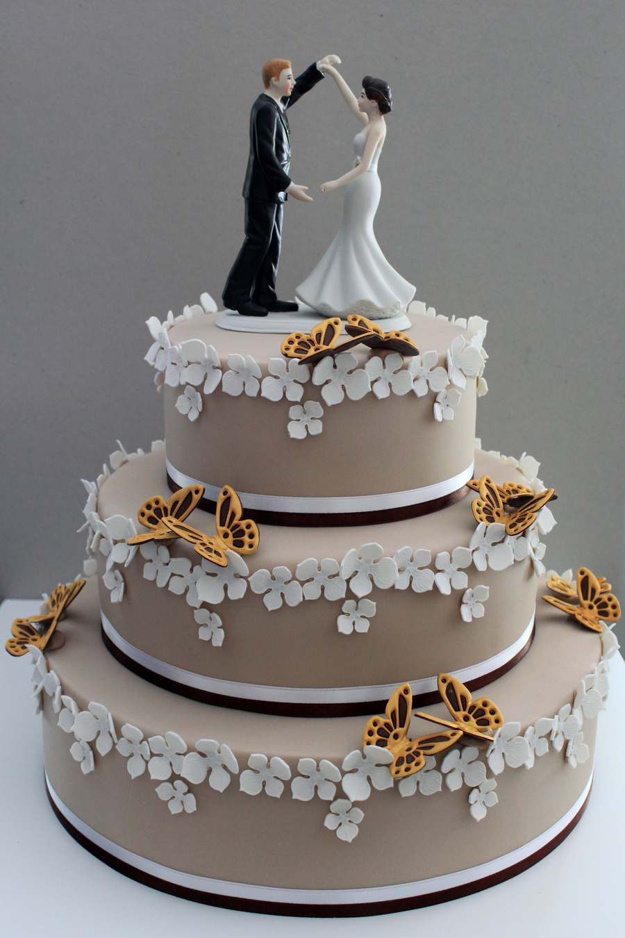 Wedding Cake With Butterflies on Cake Central