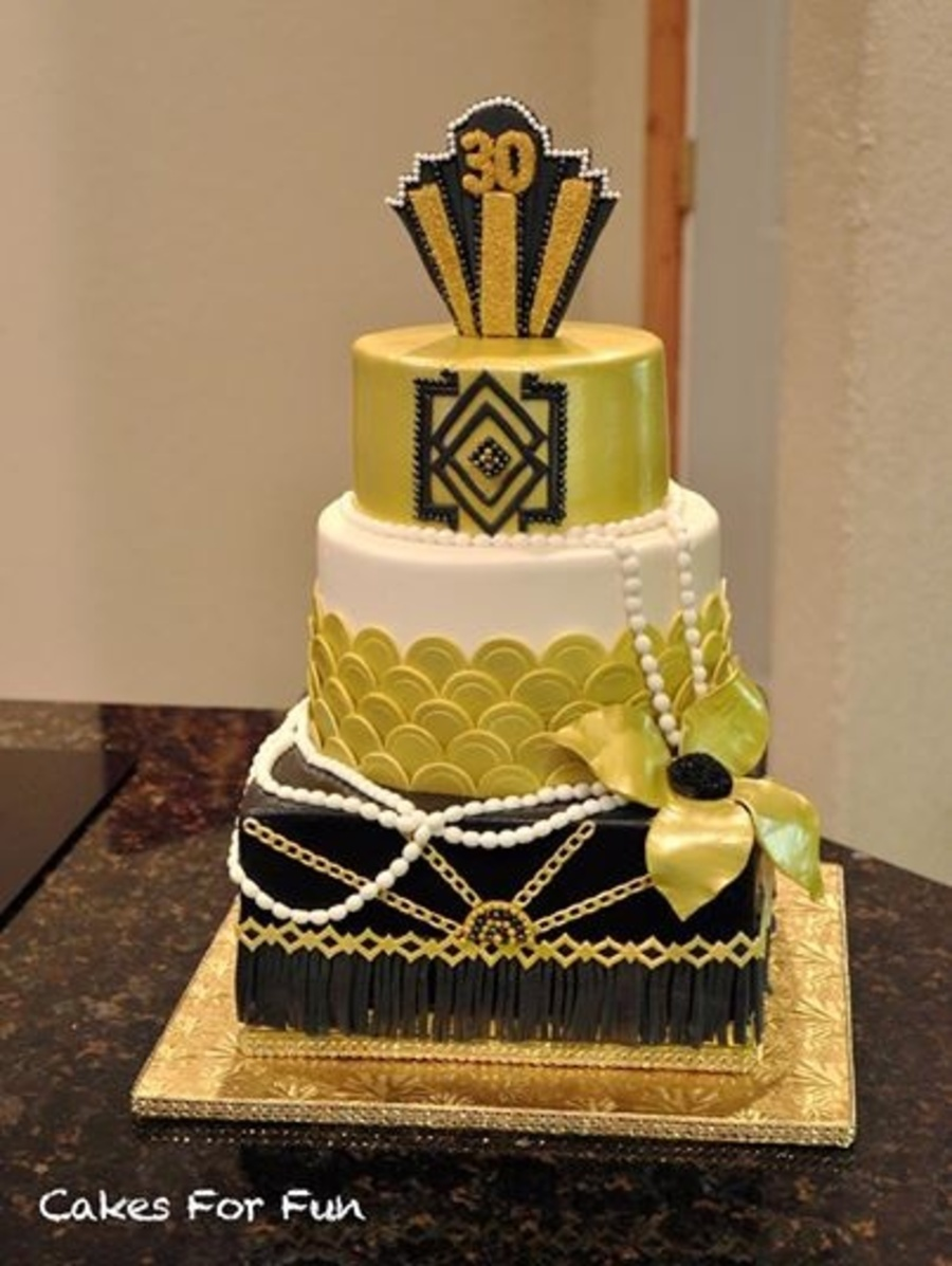Art Deco Birthday Cake : Gatsby Themed Birthday Cake Art Deco - CakeCentral.com