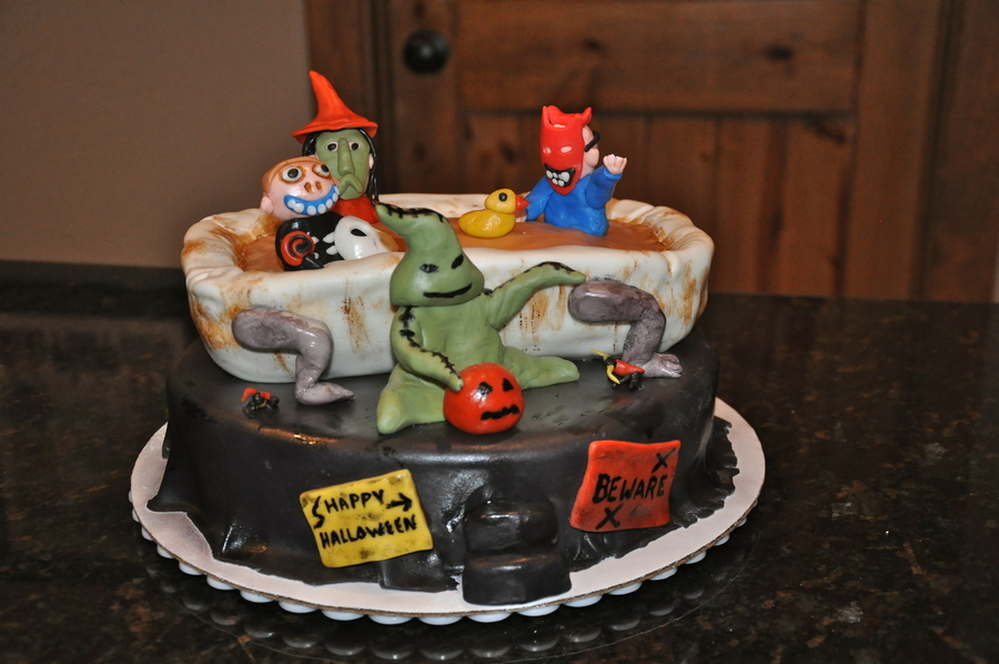 Halloween Party Cake With Characters From The Nightmare