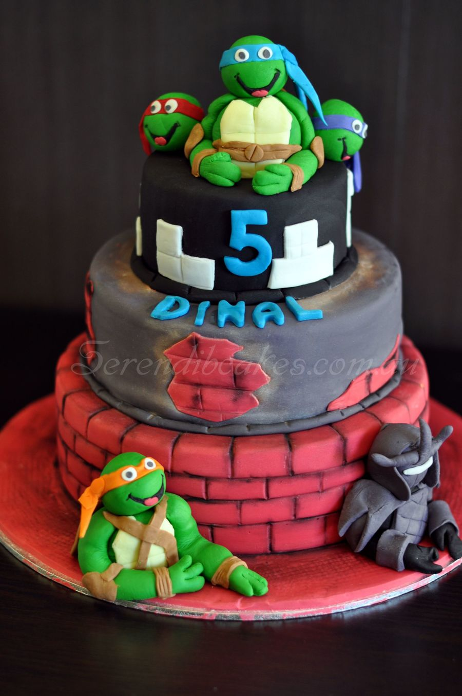 Tmnt Old Brick Wall Cake Cakecentral Com