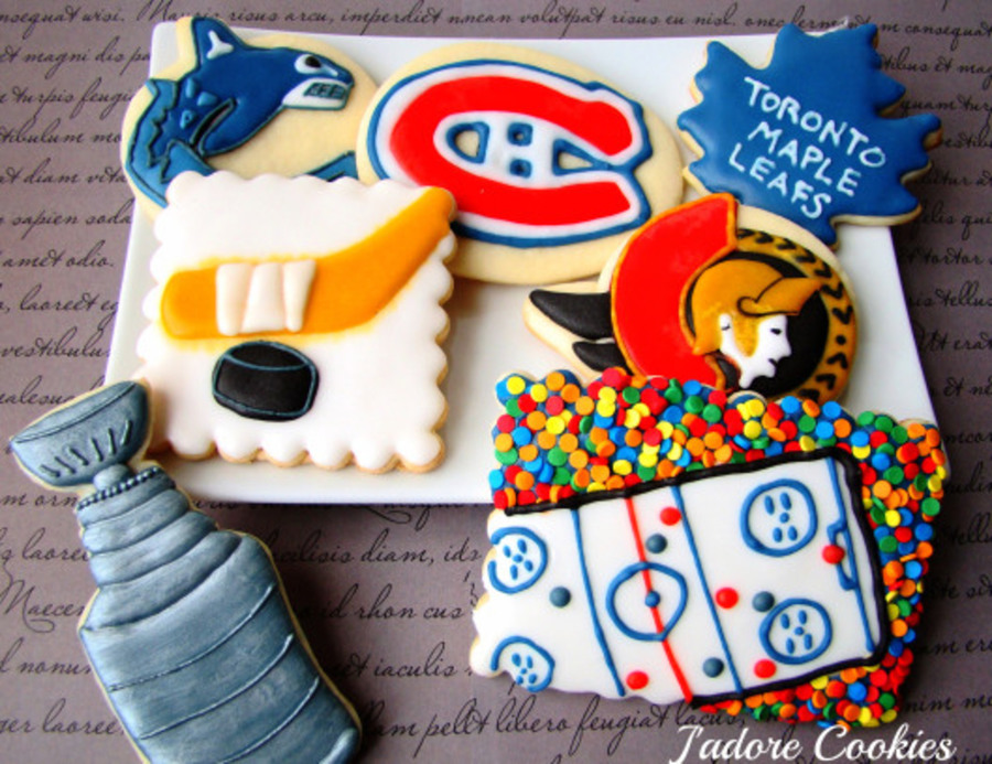 Nhl Hockey Playoff Cookies on Cake Central