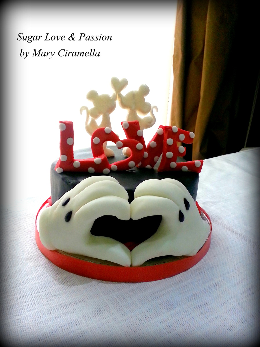 Download Love Cake Images : Minnie E Mickey Love Cake- San Valentine Disney ...