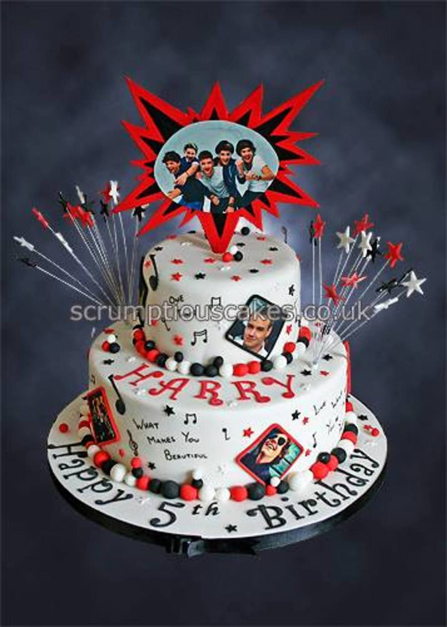 One Direction Birthday Cake Cakecentral Com