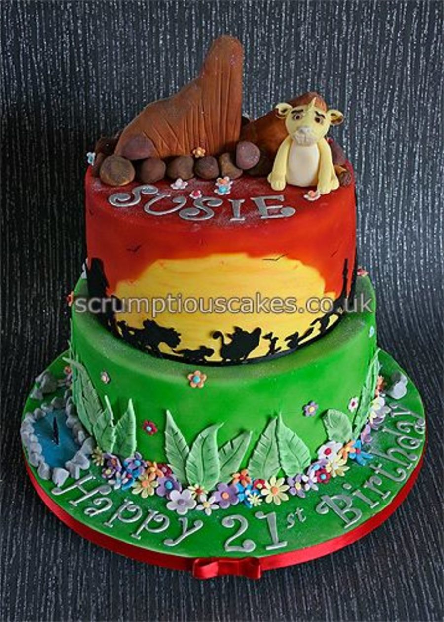 Lion King Birthday Cake CakeCentralcom