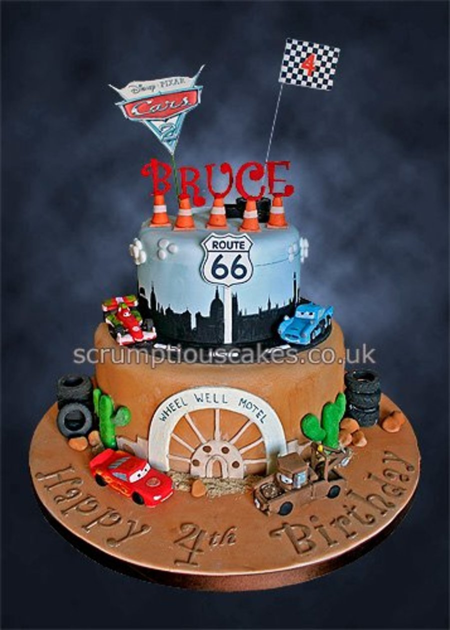 Disney Pixar Cars  Birthday Cake CakeCentralcom - Birthday cake cars 2