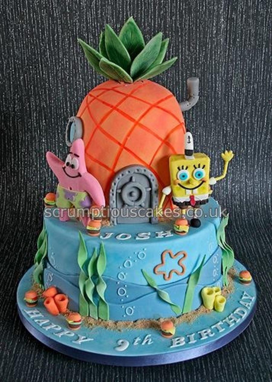 Spongebob And Patrick Birthday Cake Cakecentral Com
