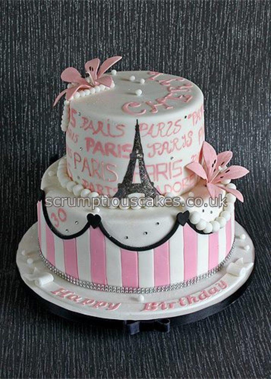 Phenomenal Paris Theme Birthday Cake Cakecentral Com Birthday Cards Printable Trancafe Filternl