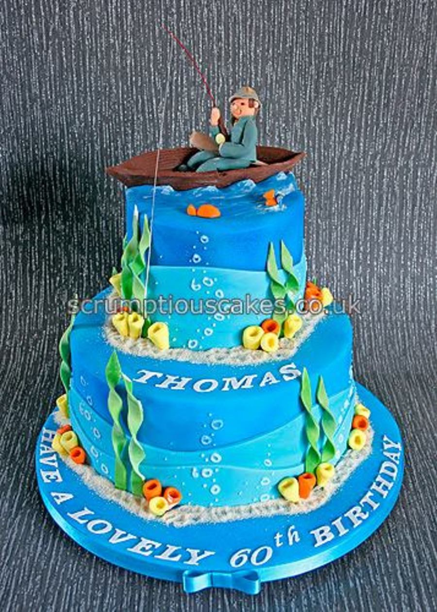 Fishing Theme Birthday Cake Cakecentral