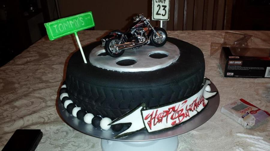 Motorcycle Tire Cake Cakecentral Com