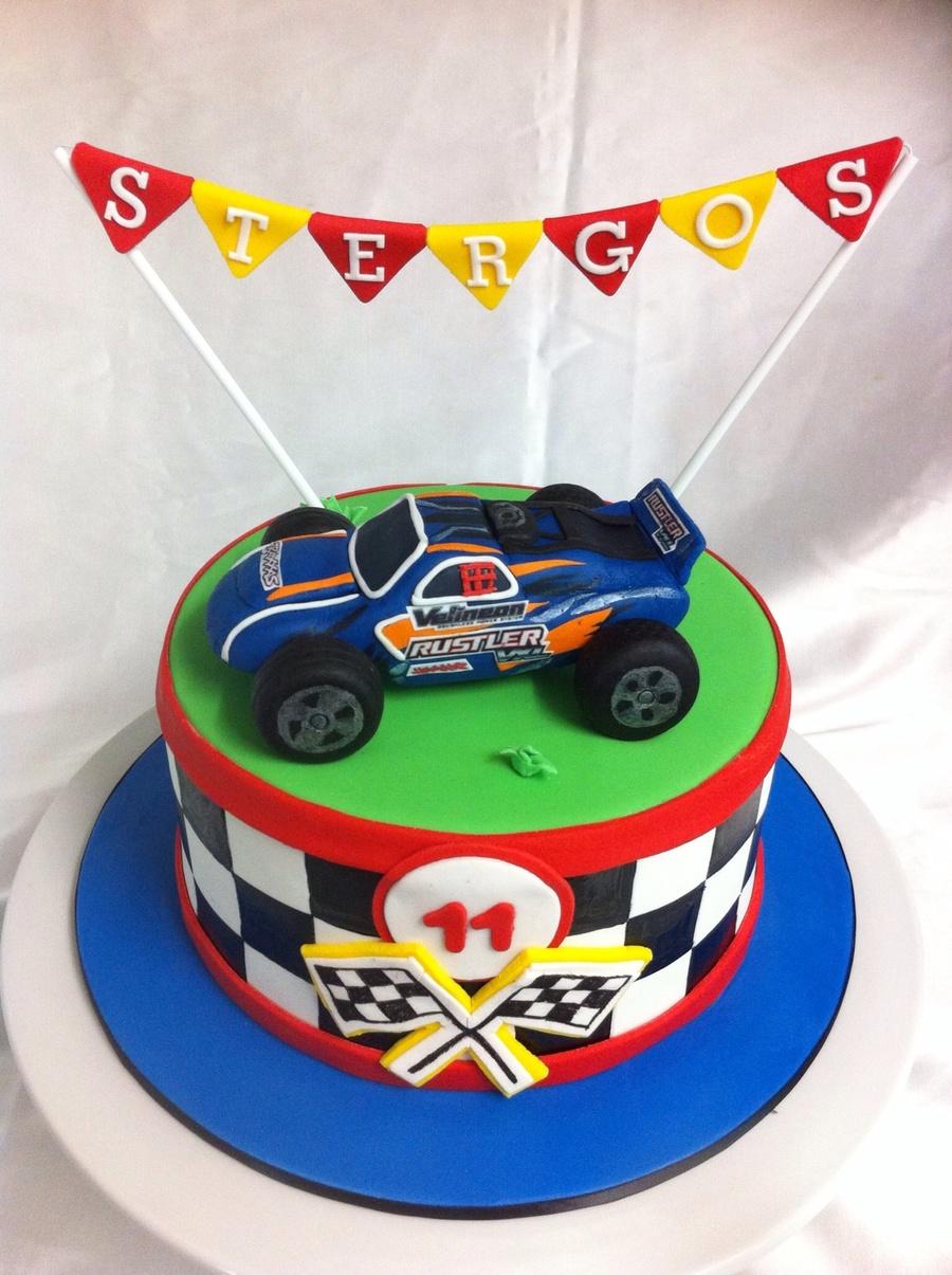 Cars Fondant Birthday Cake