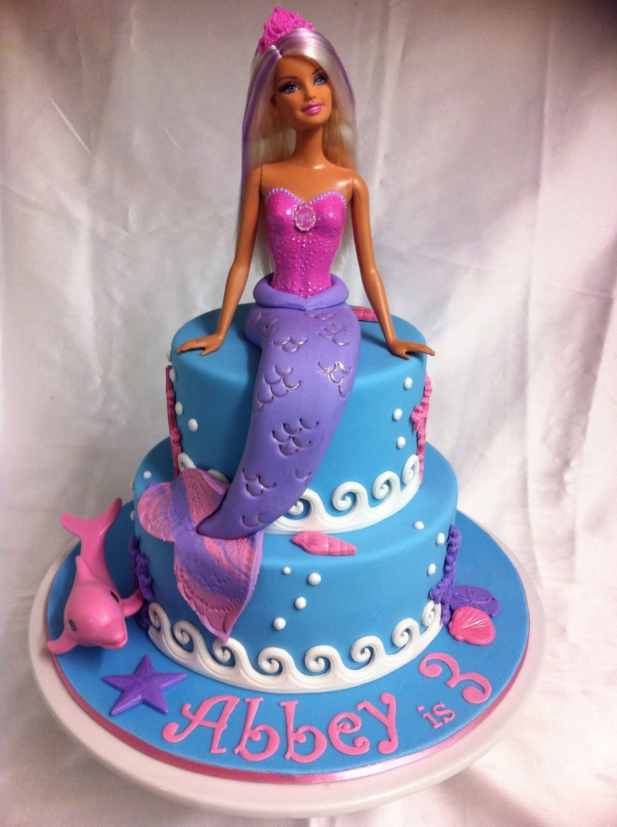 Barbie Mermaid Cake Vanilla Cakes With Bc Filling And