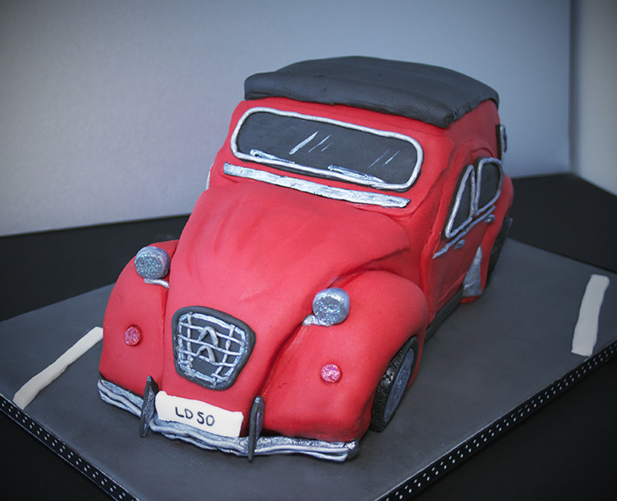 Car Cake Citroen 2Cv For 50Th Birthday on Cake Central