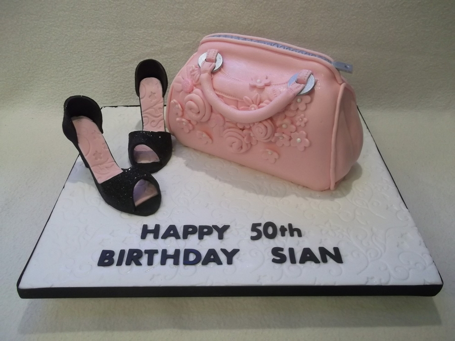 Girly Heels And A Gorgeous Bagwhat More Could A Girl Ask Foroh Yeah Cake  on Cake Central