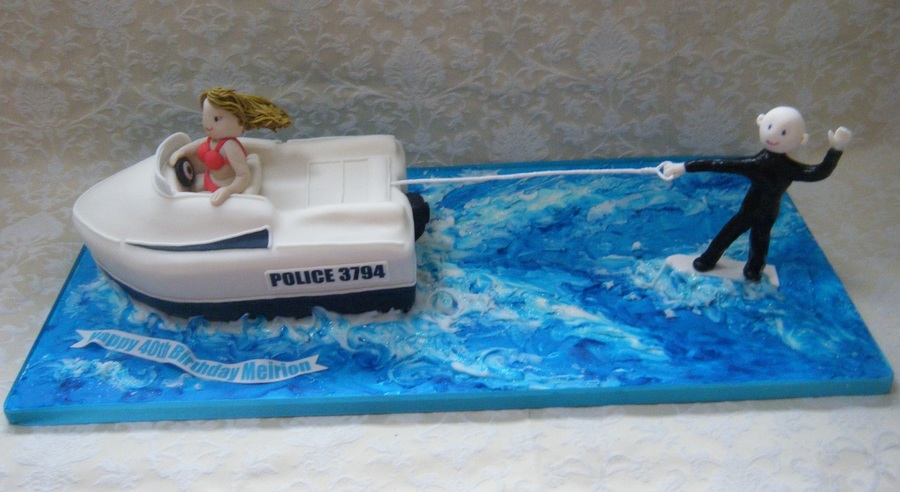 Water Skier 1Jpg on Cake Central