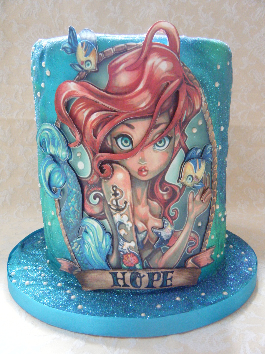 2D Little Mermaid on Cake Central