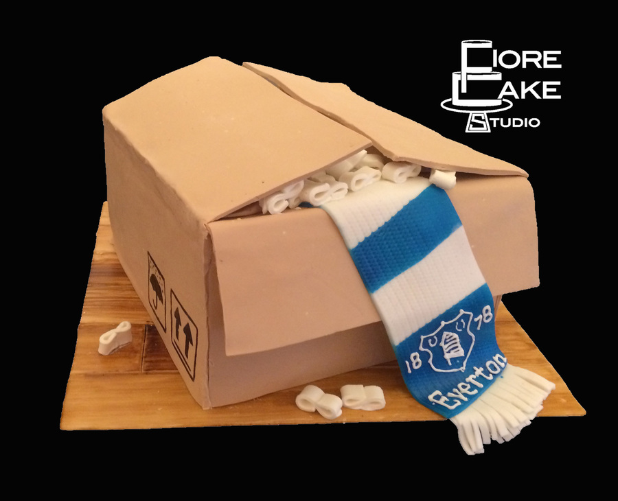 Everton Moving Box on Cake Central