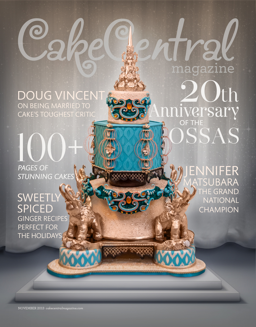 Cakecentral Magazine Vol4 Iss11 Cover on Cake Central