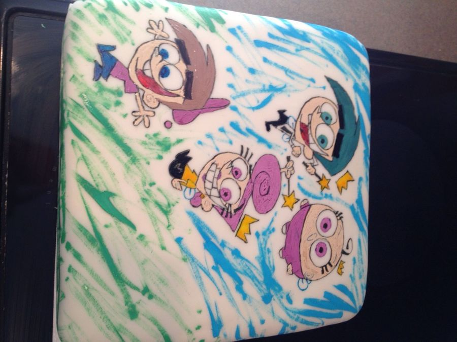Fairly Odd Parents Cake For My 7 Year Old Daughter on Cake Central