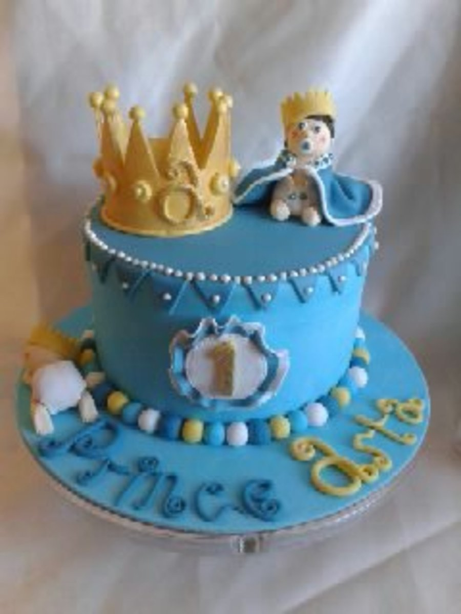 All Decorations Made From Fondant By Hand Gold Blue And ...