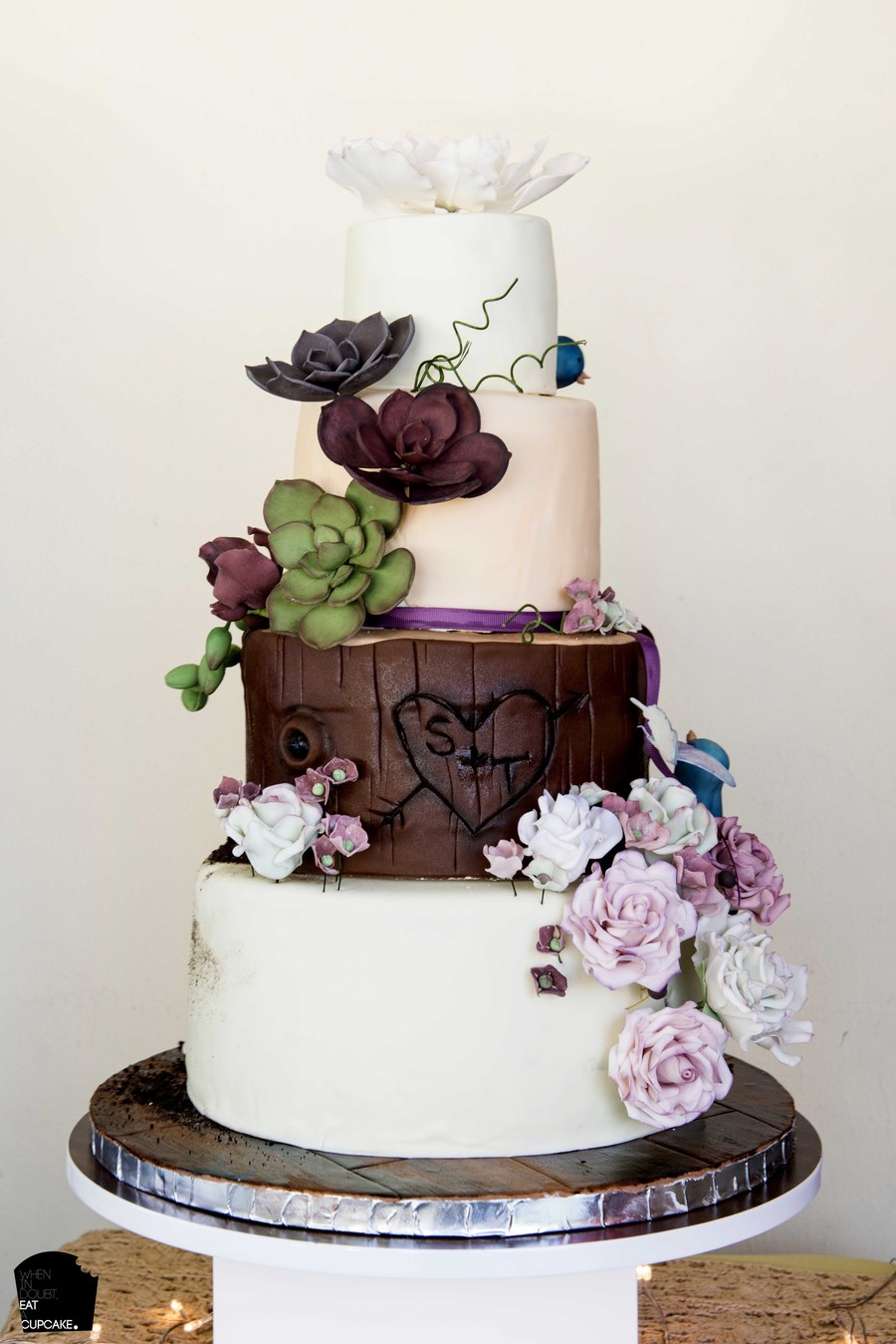 inspired wedding cakes woodland theme wedding cake cakecentral 16461