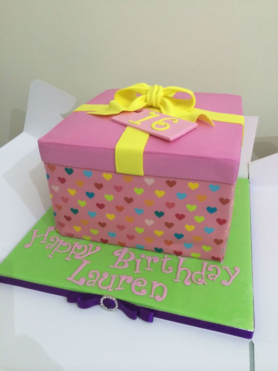 A gift box cake cakecentral a gift box cake negle Image collections