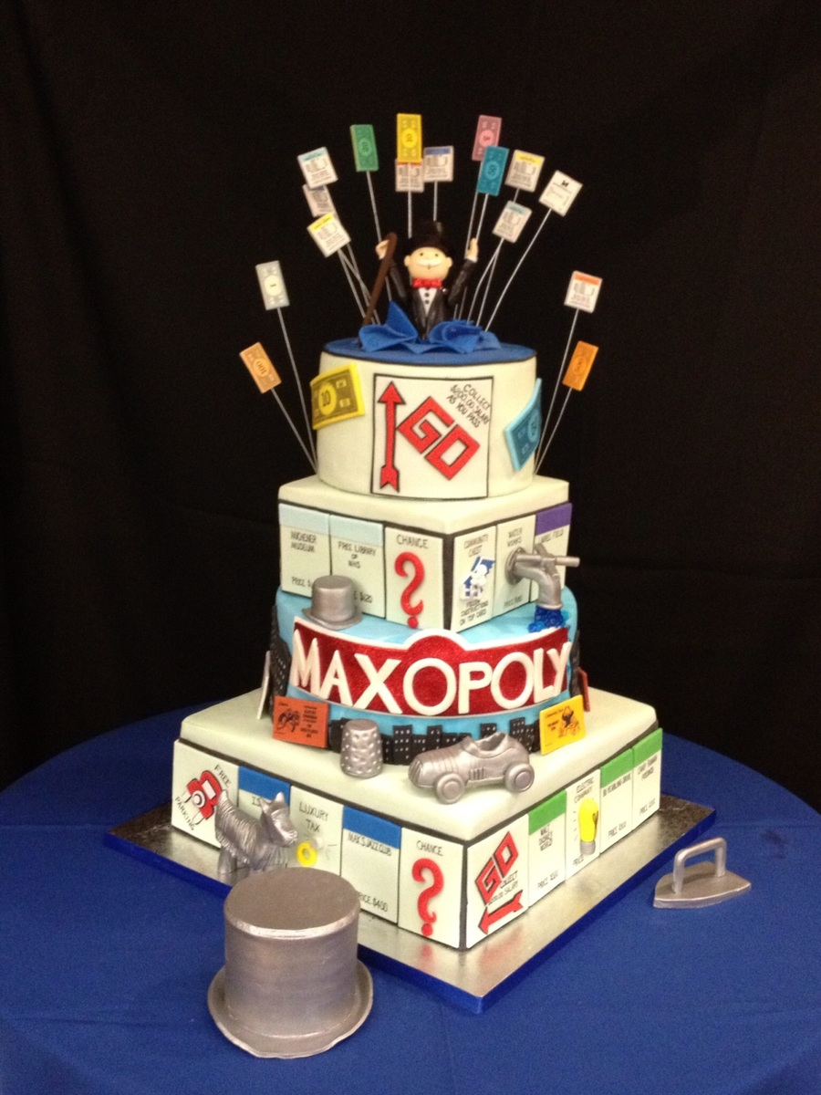 Monopoly Themed Bar Mitzvah Cake Cakecentral Com