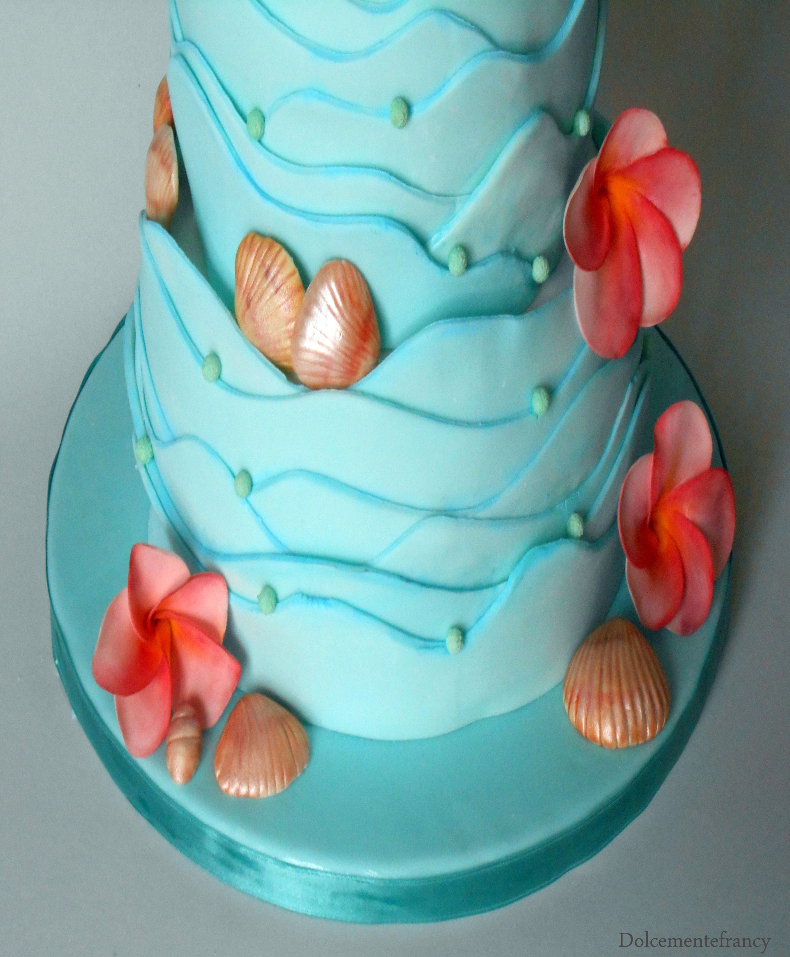 Edible Themed Cake Decoration : Caribbean Theme For This Two Storey Wedding Cake Covered ...