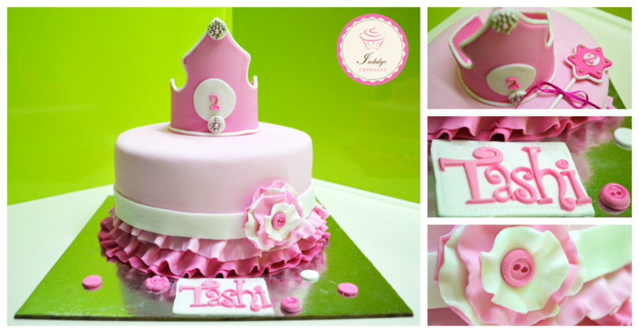 Cool A Princess Themed Birthday Cake For 2 Years Old Girl Cakecentral Com Funny Birthday Cards Online Elaedamsfinfo