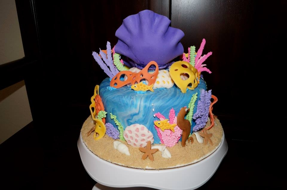 Little Mermaid Birthday Cake CakeCentralcom