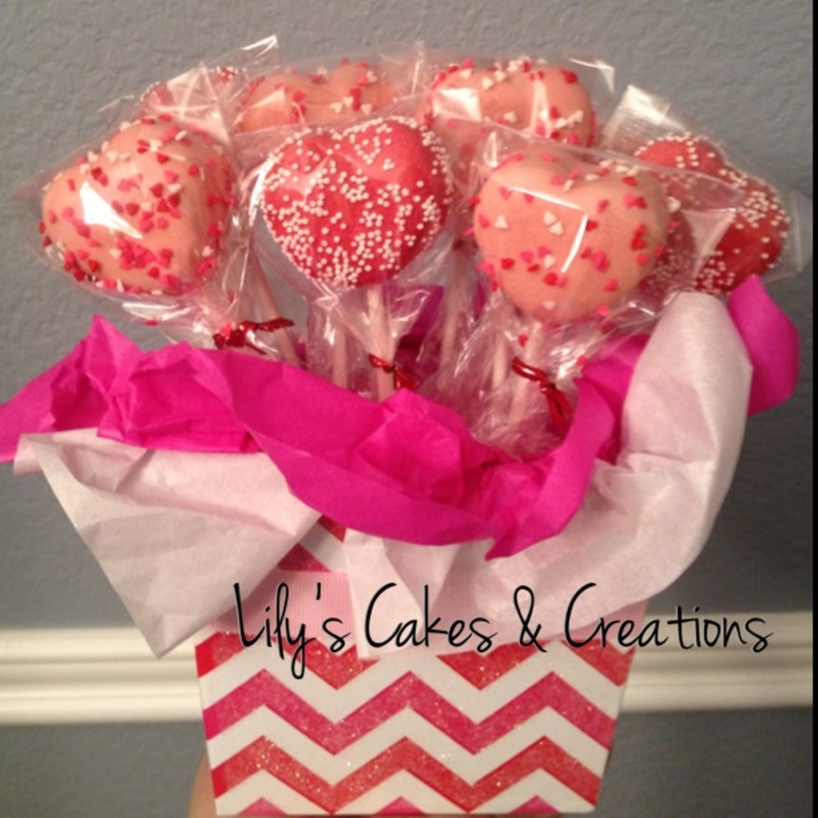 Red Velvet Heart Shaped Cake Pops - CakeCentral.com