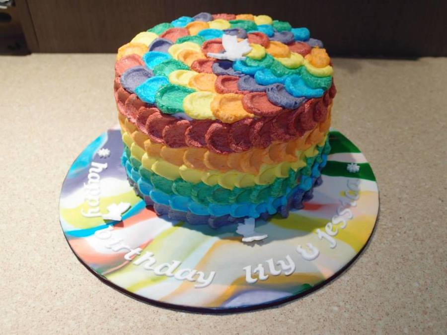 Rainbow Inspiration  on Cake Central